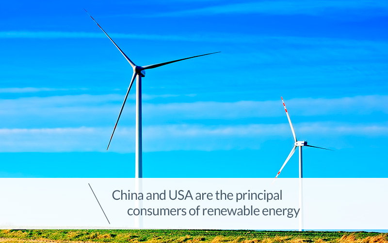 China And Usa Are The Principal Consumers Of Renewable Energy